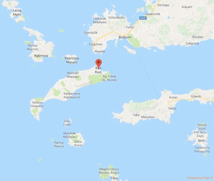 İstanköy ve Çevresi Harita