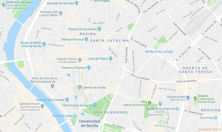 Sevilla Harita