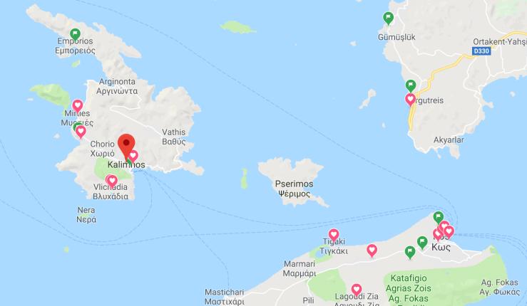 Kalimnos Harita